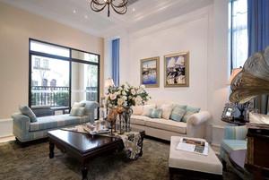 美式田园风格两居室客厅沙发装修效果图赏析