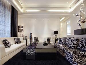 现代简约风格三居室客厅沙发装修效果图赏析