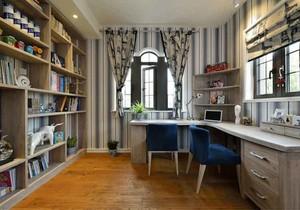 地中海风格大户型室内书房设计装修效果图赏析