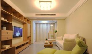 63平米宜家风格自然小户型室内装修效果图案例