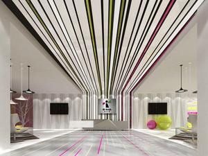 300平米现代简约风格办公室前台设计装修效果图