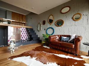 58平米时尚混搭风格精致单身公寓装修效果图赏析