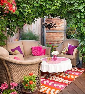 美式乡村风格阳台花园装修效果图赏析