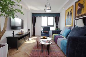 166平米混搭风格复式楼室内装修效果图案例