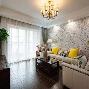 152平米现代简约美式风格三室两厅装修效果图