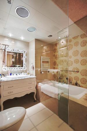 欧式风格大户型室内卫生间浴室柜装修效果图