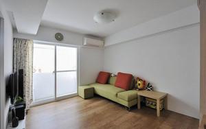 90平米日风格简约自然室内装修效果图案例