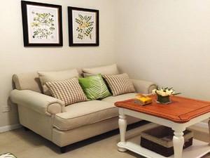欧式田园风格自然两室两厅室内装修效果图赏析