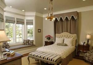 美式田园风格卧室飘窗设计装修效果图赏析