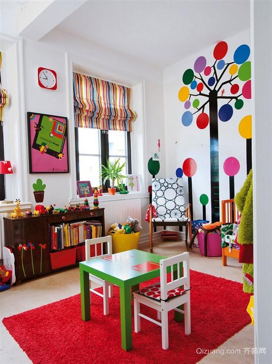 现代简约风格缤纷彩色儿童房装修效果图赏析