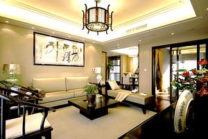 163平米中式风格典雅精致大户型室内装修效果图