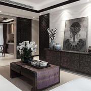 中式风格混搭精致客厅装修效果图