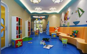 80平米现代简约风格幼儿园环境设计装修效果图