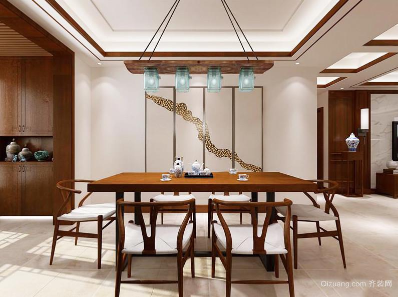 新中式风格大户型室内餐厅吊灯装修效果图赏析