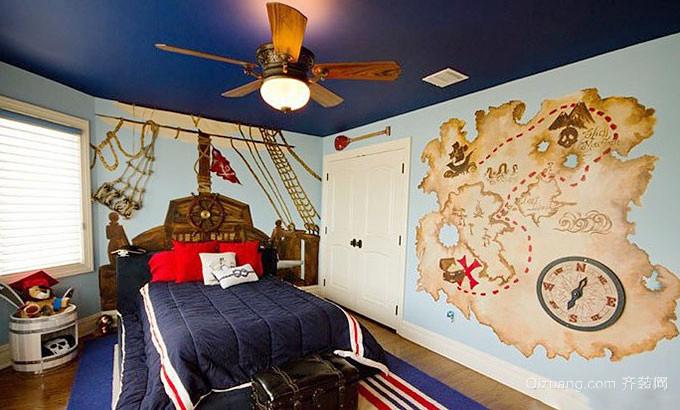 时尚创意地中海风格元素儿童房装修效果图大全