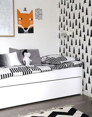 北欧风格亲近自然儿童床装修效果图大全赏析