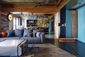 150平米现代工业风格大户型室内装修效果图赏析