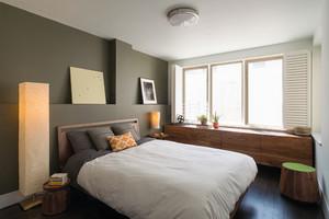后现代风格两居室卧室背景墙装修效果图