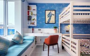 时尚混搭风格蓝色儿童房装修效果图赏析
