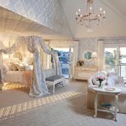 欧式风格别墅室内唯美卧室装修效果图赏析