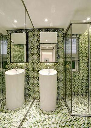简约风格创意时尚卫生间瓷砖设计装修效果图大全
