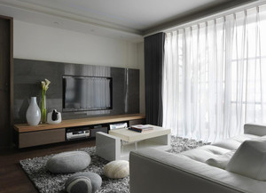 81平米现代风格中性冷调一居室装修效果图赏析