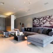 现代简约风格大户型客厅照片墙装修效果图赏析