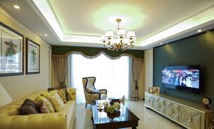 133平米现代简约美式风格三室两厅室内装修效果图赏析