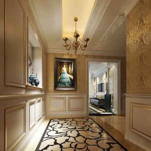 欧式风格别墅进门玄关设计装修效果图