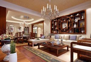 140平米中式风格两室两厅室内装修效果图案例