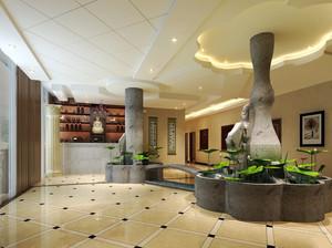 200平米简欧风格酒店大堂设计装修效果图