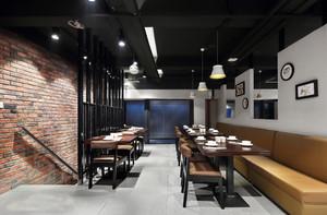 120平米后现代风格中餐厅设计装修效果图案例