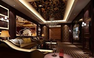 66平米欧式风格KTV包房沙发设计装修效果图