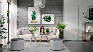 70平米北欧风格简约清新两室一厅室内装修效果图赏析