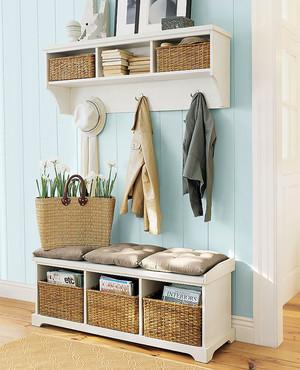 北欧风格小户型玄关鞋柜设计装修效果图
