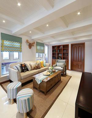 160平米复古美式风格室内复式楼装修效果图赏析