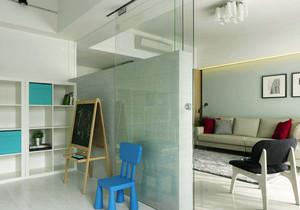 现代风格两居室客厅隔断墙装修效果图赏析