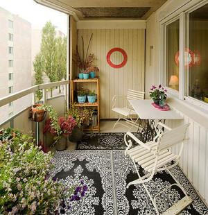 现代美式风格大户型阳台花园装修效果图赏析