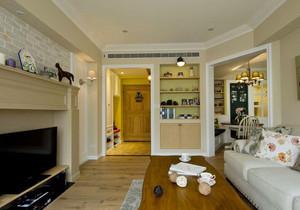 99平米现代美式风格三室两厅室内装修效果图