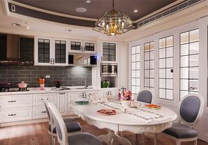 欧式风格别墅室内精美厨房餐厅装修效果图赏析