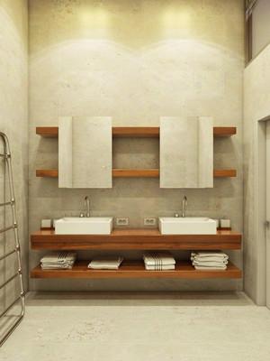 日式风格简约卫生间浴室柜装修效果图赏析