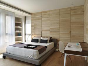 宜家风格自然轻松卧室背景墙设计装修效果图
