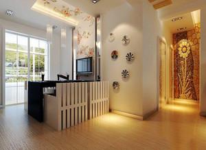 新中式风格两居室餐厅背景墙装修效果图