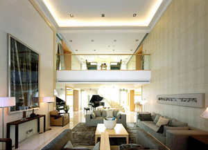213平米现代风格跃层设计装修效果图案例