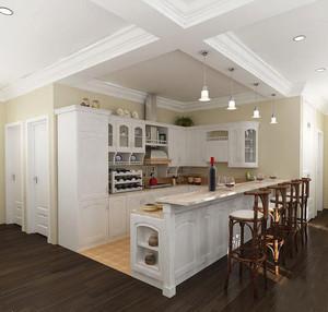 简欧风格大户型室内整体厨房装修效果图赏析