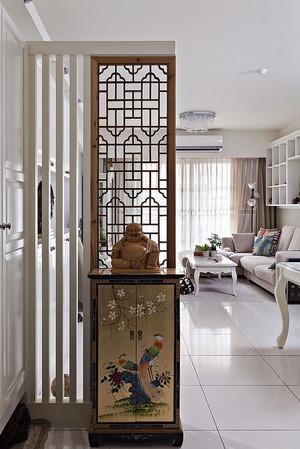 中式风格三居室玄关隔断设计装修效果图赏析