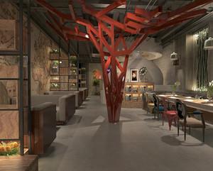 后现代风格创意中餐厅设计装修效果图赏析
