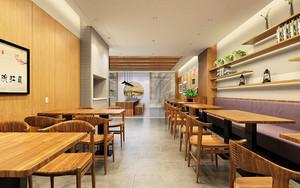 90平米中式风格中餐厅设计装修效果图赏析