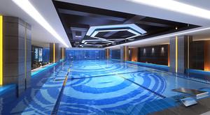 120平米现代风格健身房游泳池装修效果图赏析