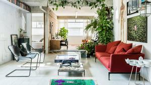 120平米北欧风格绿色家居室内装修效果图赏析
